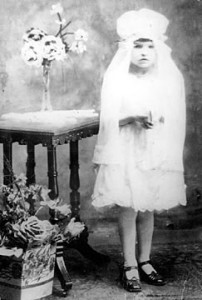 Mother at first communion circa 1926