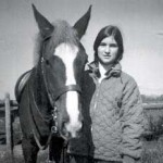 As a teen with Traveller, a quarter horse cross
